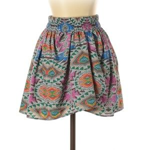 Lovers + Friends Abstract Print Casual Mini Skirt